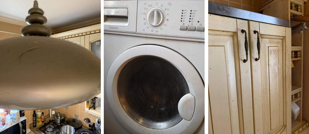 Грязная квартира до уборки