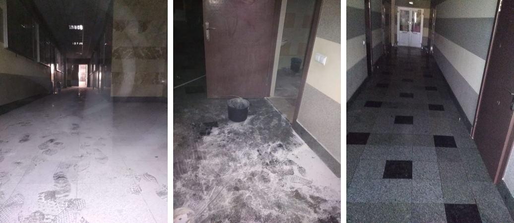 Уборка после пожарной пены