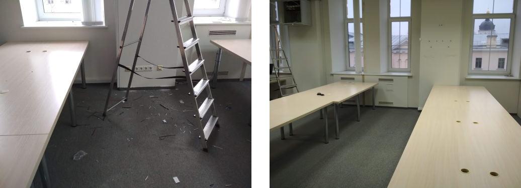 Уборка офиса после косметического ремонта