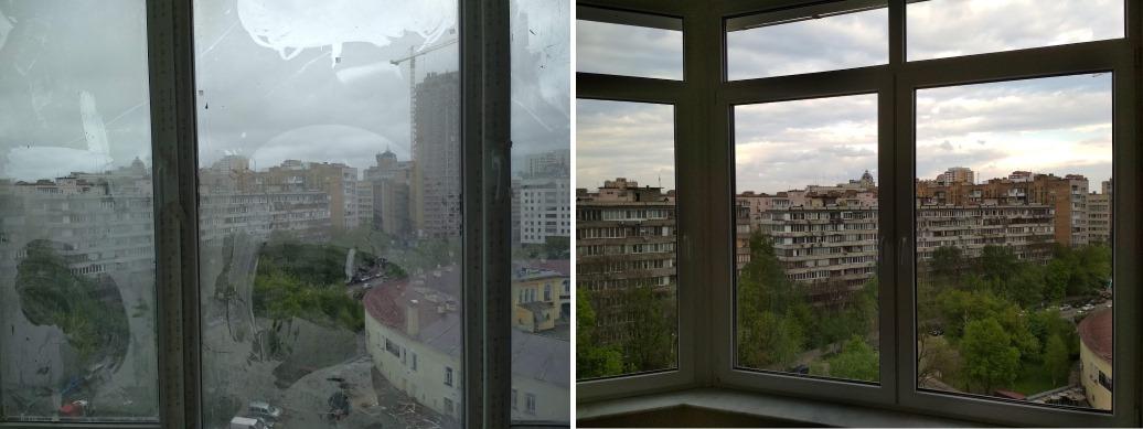 Мойка окон после ремонта Печерск