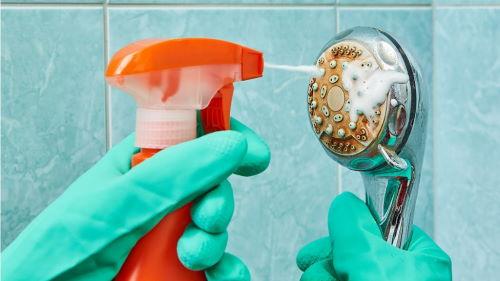 Как чистить душевую насадку