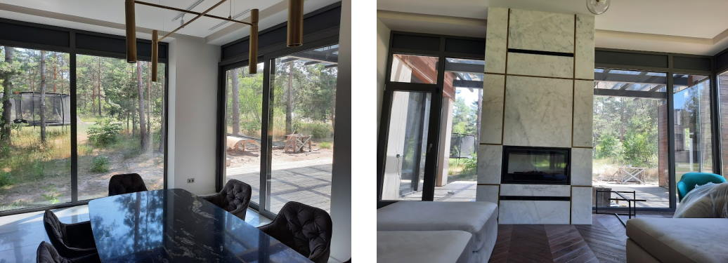 Мойка панорамных окон в доме